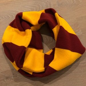 Burgundy and Yellow Scarf